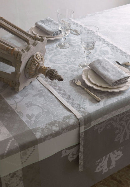 Azulejos, Grey Jacquard Table Runners