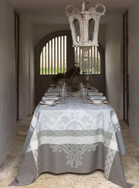 Azulejos Grey Coated Tablecloth