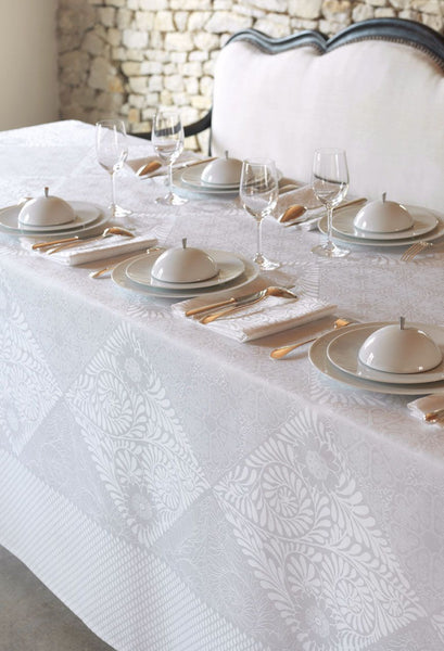 Bosphore, White Jacquard Tablecloth 1