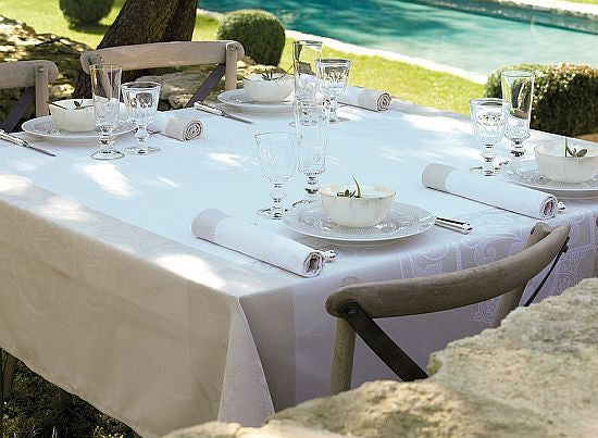 Venezia, Ivory Cotton Tablecloth