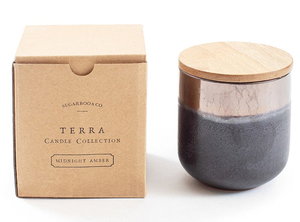 Terra Candle Midnight Amber