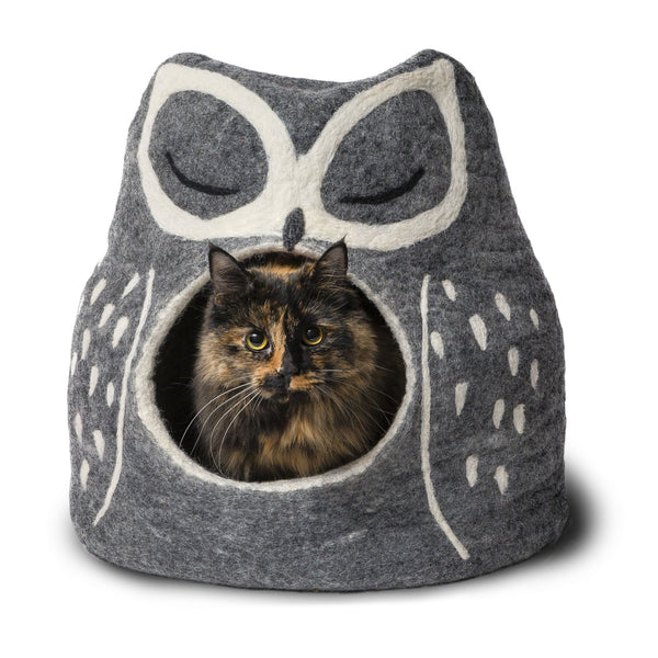 Gray Owl Cat Bed - r. h. ballard shop