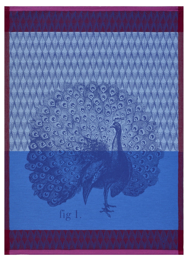 Planche Animaliere Peacock Azure Towel
