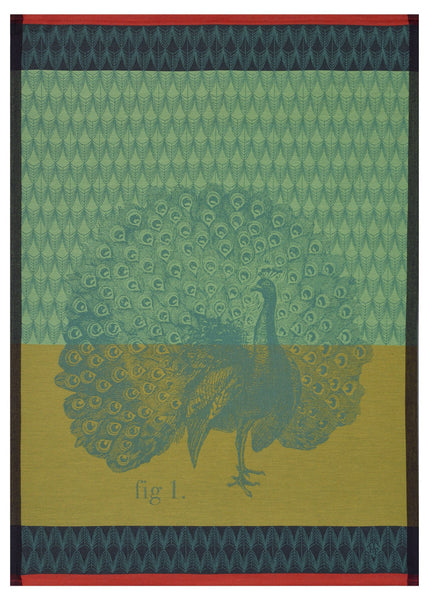 Planche Animaliere Peacock Moss Towel