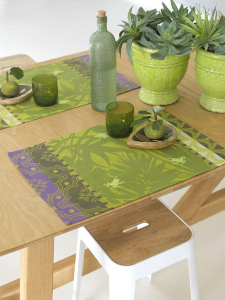 Bahia Green Coated Placemats Set of 2