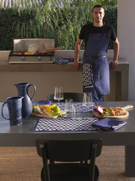 Bistronome Jules Blue Coated Placemats Set of 2