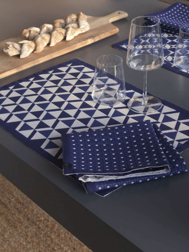Bistronome Marcel Blue Coated Placemats Set of 2 - r. h. ballard shop
