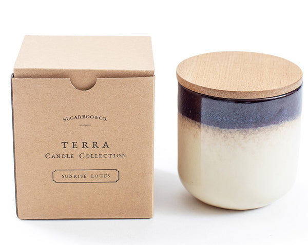 Terra Candle Sunrise Lotus