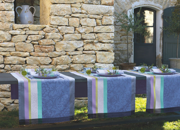 Provence, Lavender Blue Acrylic Coated Runner