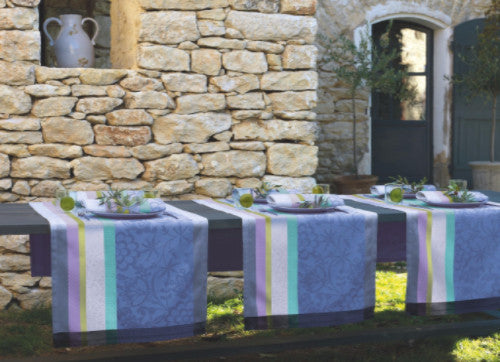 Provence, Lavender Blue Cotton Table Runners