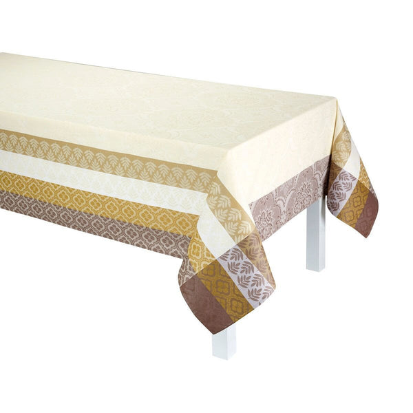 Bastide Ivory Coated Tablecloth