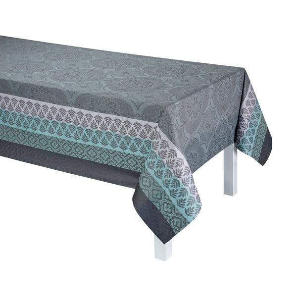 Long Bastide Grey Tablecloth Coated