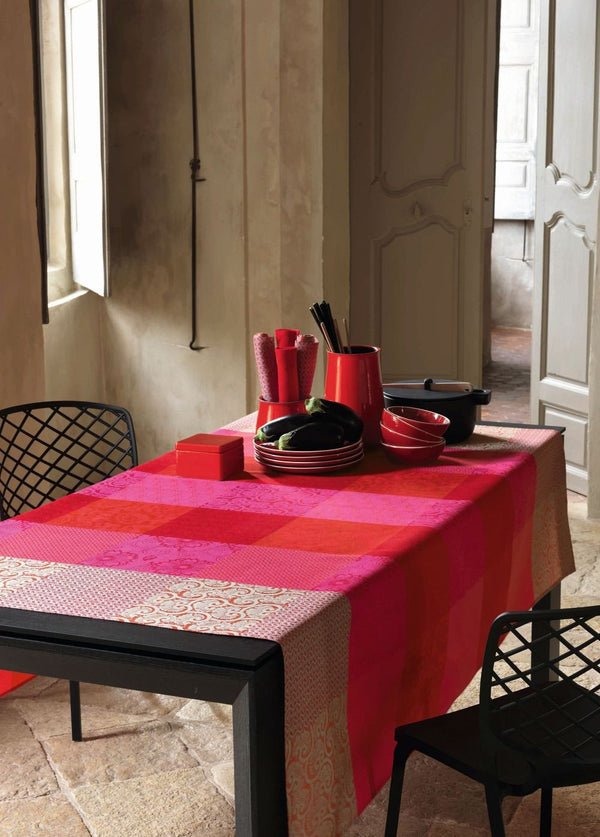 Fleurs de Kyoto Cherry Coated Tablecloth - r. h. ballard shop
