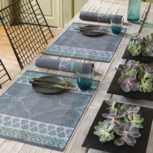 Coated Bastide grey placemats