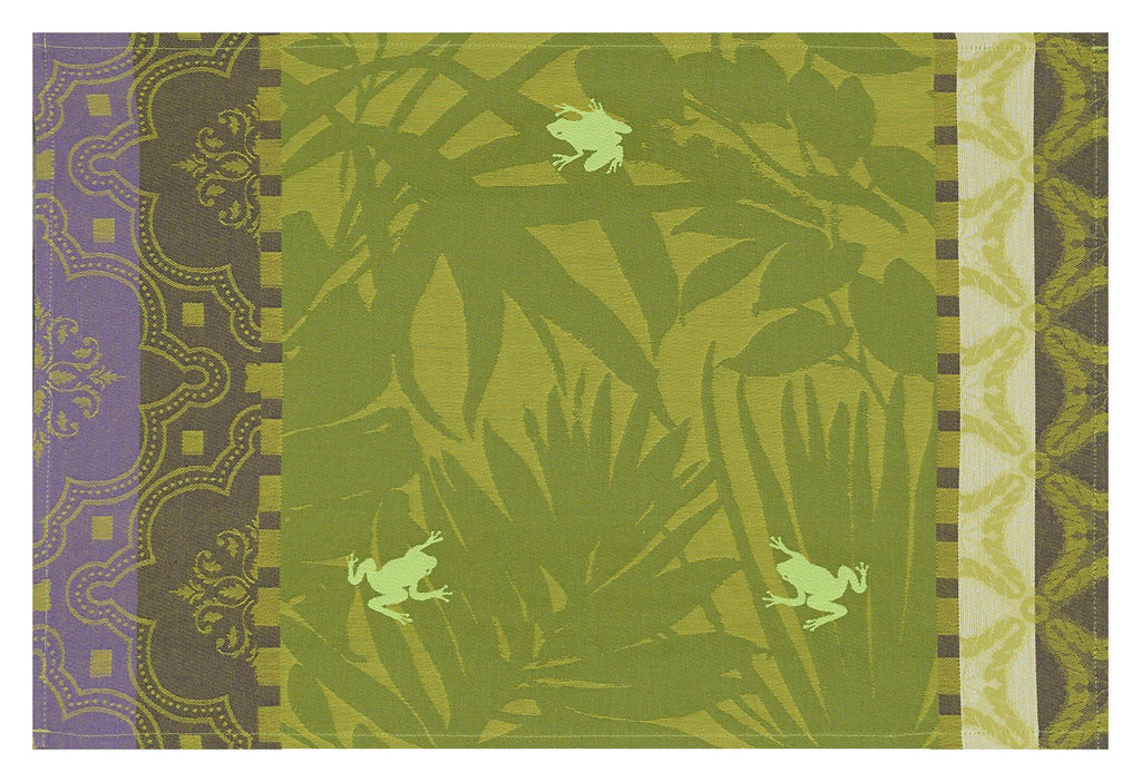 Bahia Green Coated Placemats Set of 2 - r. h. ballard shop