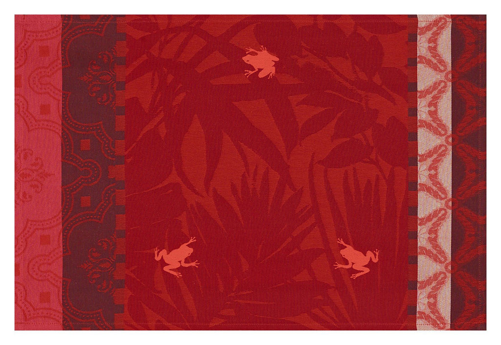 Bahia Sunset Red Coated Placemats Set of 2 - r. h. ballard shop