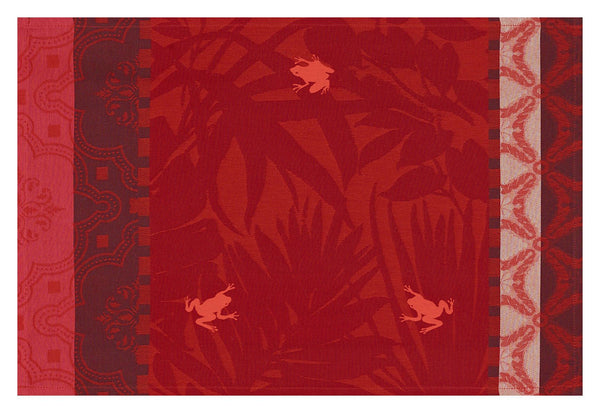 Bahia Sunset Red Coated Placemats Set of 2