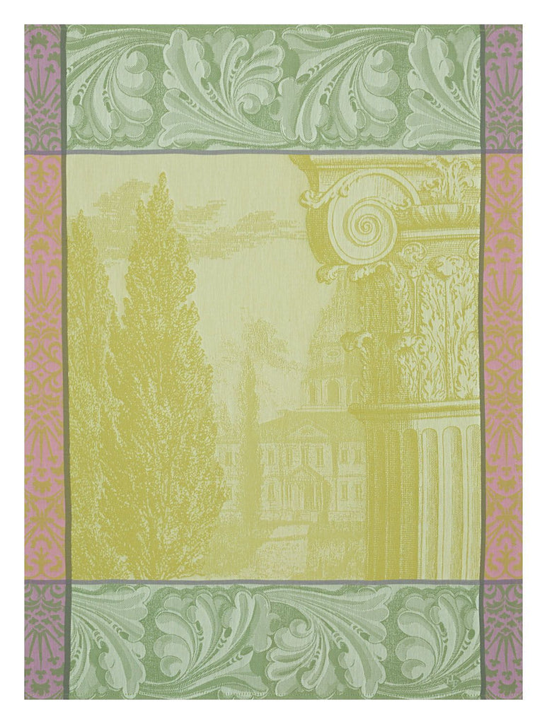 Baroque Jardin Green Towel - r. h. ballard shop