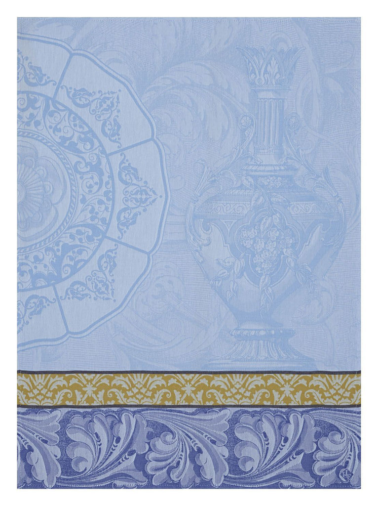 Baroque Porcelain Iris Towel - r. h. ballard shop