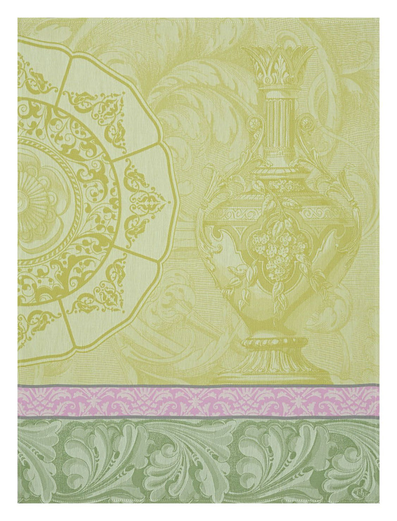 Baroque Porcelain Green Towel