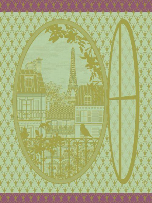 Fenetre Sur Paris Maple Towel - r. h. ballard shop