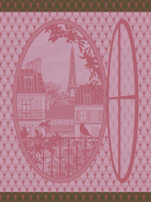 Fenetre Sur Paris Prunus Towel - r. h. ballard shop