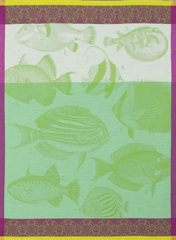 Moorea Green Towel - r. h. ballard shop