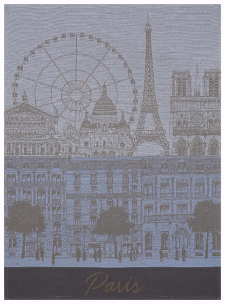 Paris Panorama Azure Towel