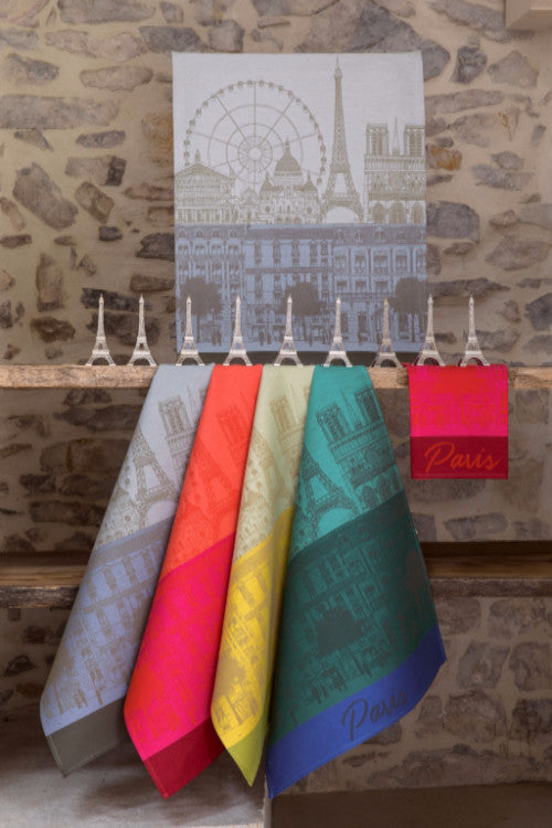 Paris Panorama Azure Towel - r. h. ballard shop