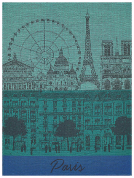 Paris Panorama Garden Towel