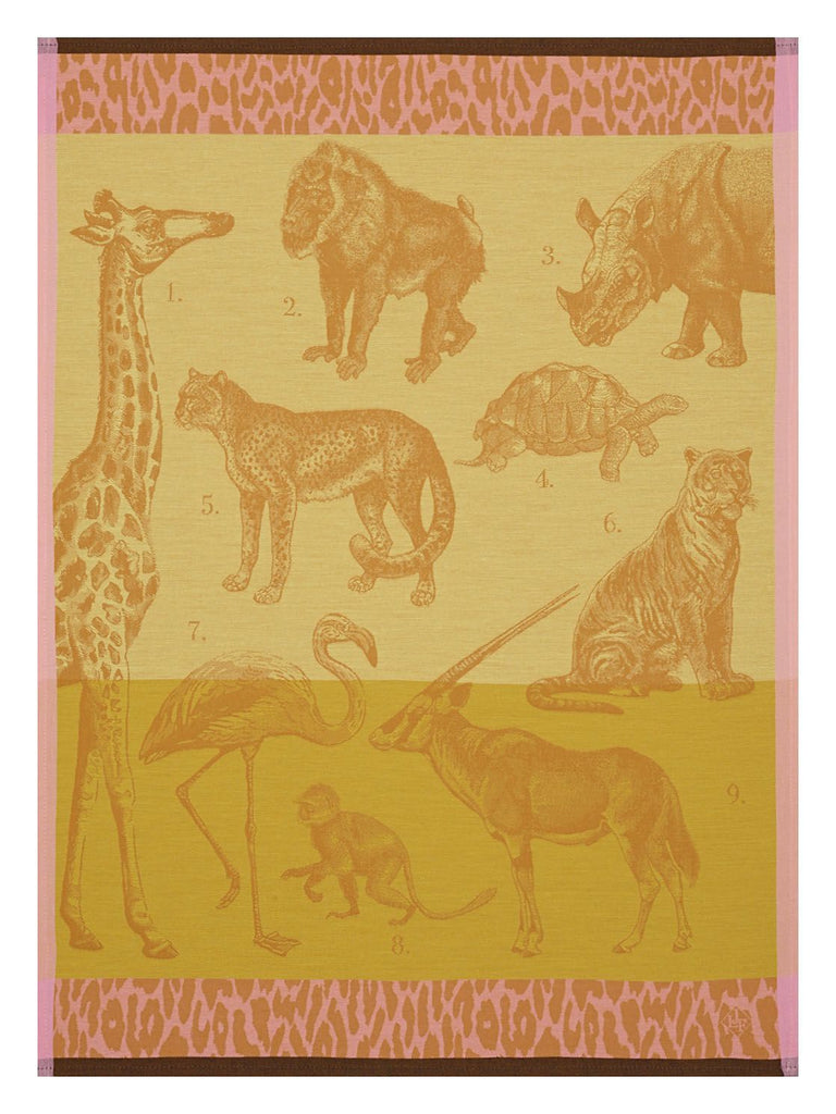 Planche Animaliere Safari Sun Towel - r. h. ballard shop