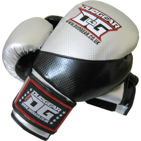 SILVER METALLICA MUAY THAI BOXING GLOVES