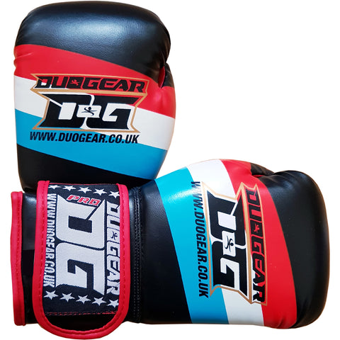 BLACK STRIPES MUAY THAI BOXING GLOVES