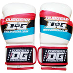 WHITE STRIPES MUAY THAI BOXING GLOVES