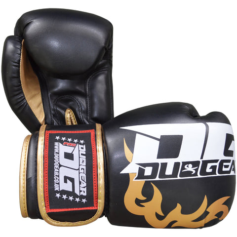 BLACK 'DG2018' MUAY THAI BOXING GLOVES