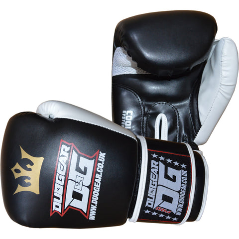 BLACK RAJA MUAY THAI BOXING GLOVES