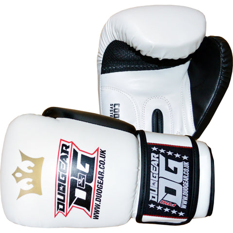 WHITE RAJA MUAY THAI BOXING GLOVES