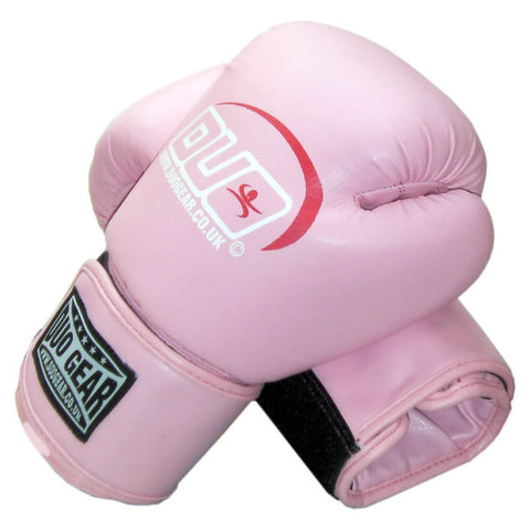 PINK SYNTHETIC MUAY THAI BOXING GLOVES