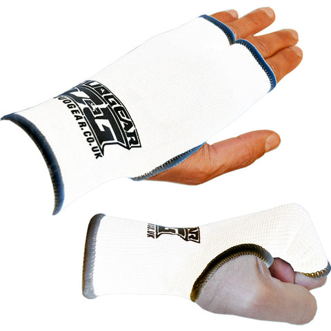 WHITE THUMBLESS BOXING INNER GLOVES