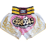 PINK & WHITE VICTORY MUAY THAI SHORTS
