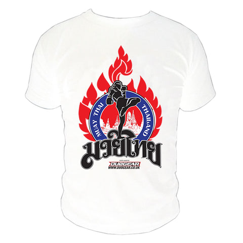 WHITE KAO MUAY THAI T-SHIRT