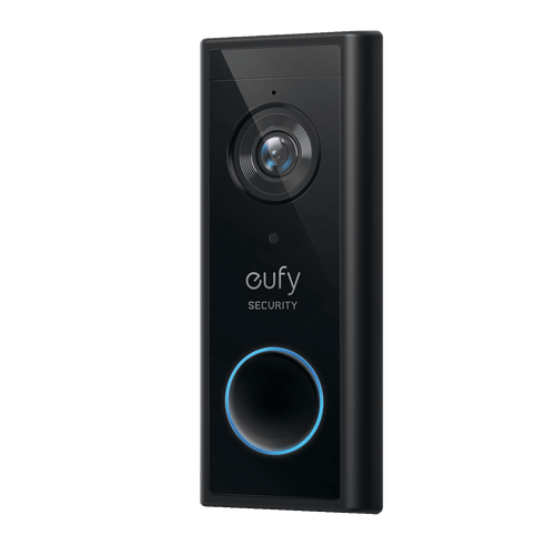 Eufy Video Doorbell 1080p Security doorbell in black   Sparkwell Home - Home Security Collection