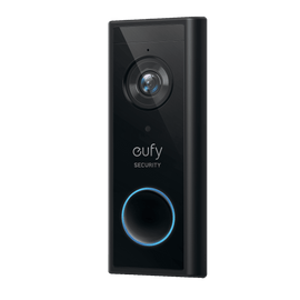 Eufy Video Doorbell 2k Security doorbell in black | Sparkwell Home - Home Security Collection