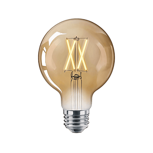 EnerJ Globe 95 - a warm filament lightbulb that can be voice controlled & has a screw based fitting   Sparkwell Home