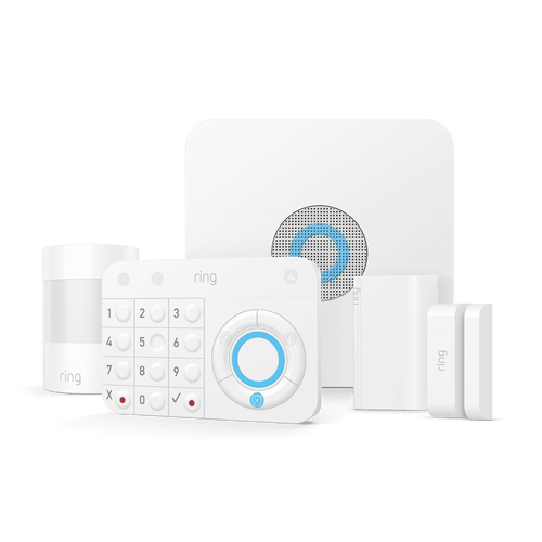 Ring 5 Piece Home Alarm System with motion detectors and keypad to protect your family and home   Sparkwell Home, Home Security