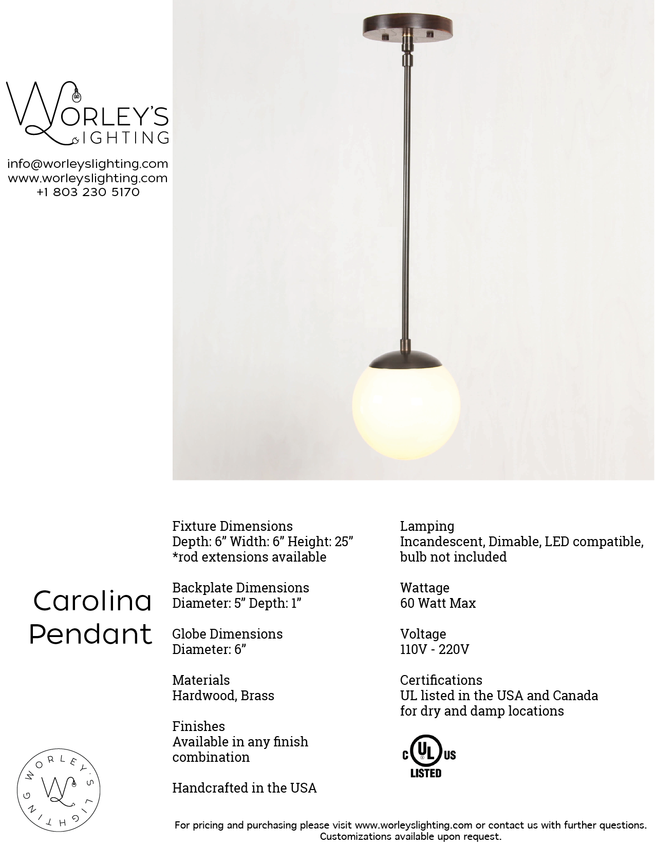 Download spec sheet 2018 worleys lighting