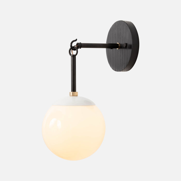 Link Sconce with Globe