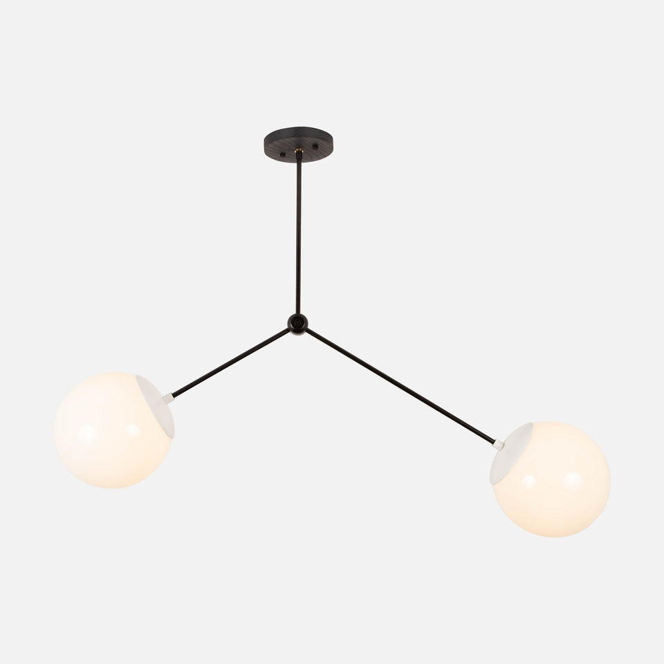 Branch Chandelier with Globes 8""