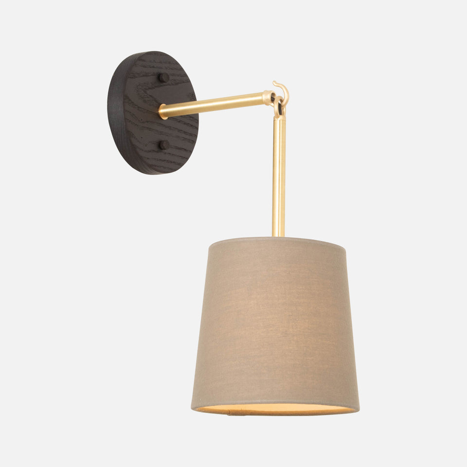 Link Sconce with Linen Shade