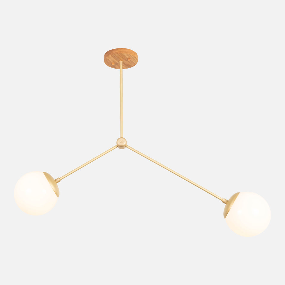 Branch Chandelier with Globes 6""